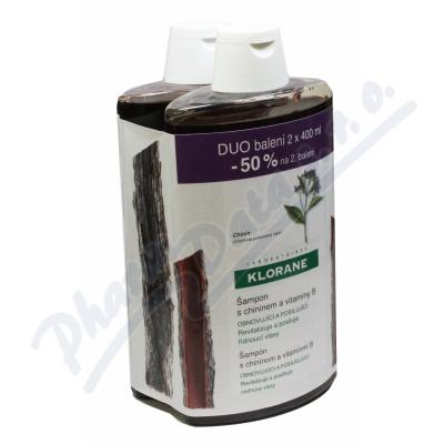 KLORANE Quinine shamp 400ml DUO