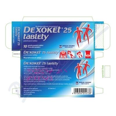 DEXOKET 25 TABLETY