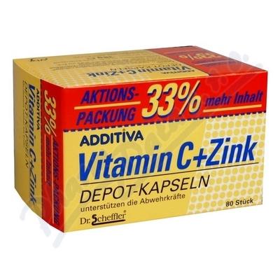Additiva vitamín C + zinek 33% gratis cps.80