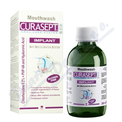 CURASEPT ADS IMPLANT ústní voda 200ml 0.20%CHX