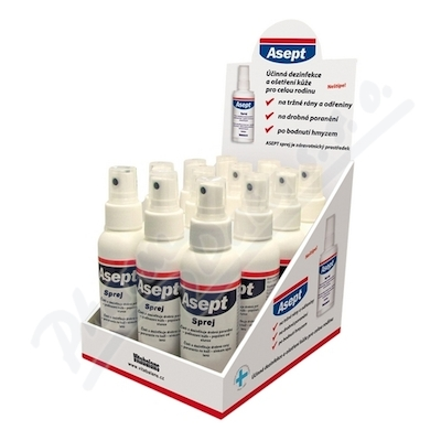 Asept spray 12 x 100ml display