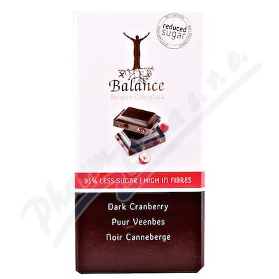 Balance hořká čokoláda s brusinkami bez cukru 85g