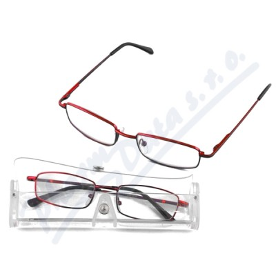 Brýle čtecí American Way +1.0 červené v etui