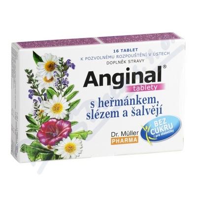 Anginal tablety s heřmánkem+slézem tbl.16