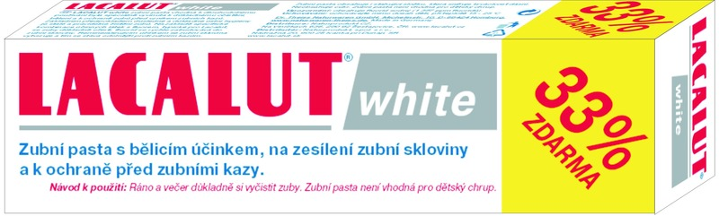 Lacalut white100ml33%zdarma