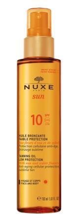 NUXE SUN Bronzující olej SPF10 obličej tělo 150ml