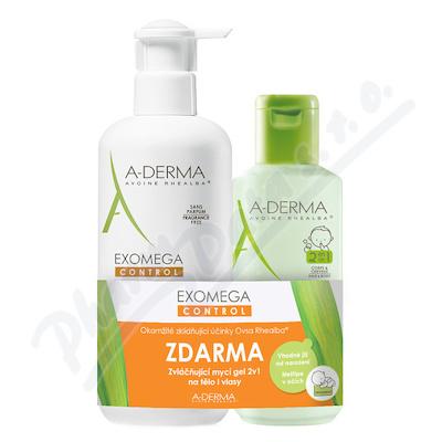 A-DERMA Exomega CONTROL Mléko 400ml+Gel 2v1 200ml