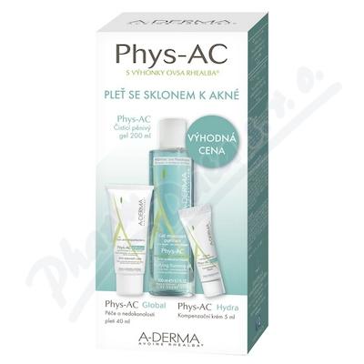 A-DERMA Phys-AC Čist.gel200ml+Glob40ml+Hydra5ml