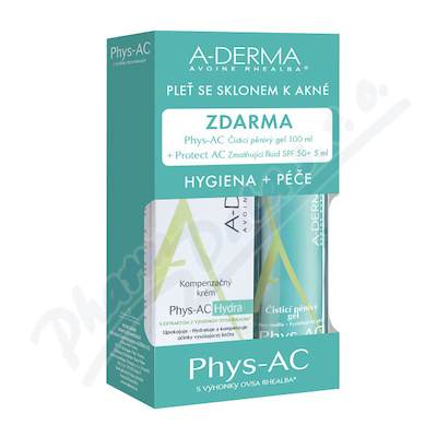 A-DERMA Phys-AC Hydra kit 3ks