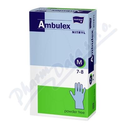 Ambulex Nitryl rukavice nitril.nepudrované M 100ks