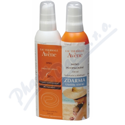 AVENE S Spray SPF30 200ml + Lait repar 200ml