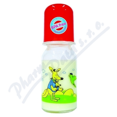 BABY NOVA láhev skleněná s potiskem 125ml 44605