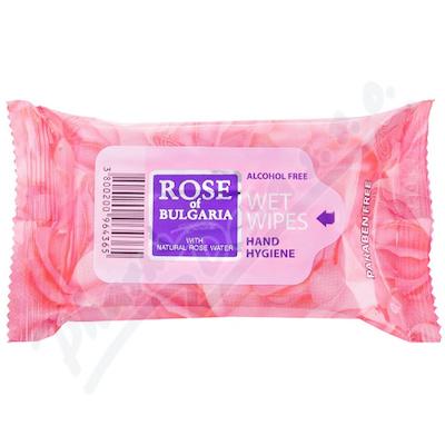 Biofresh vlhčené ubrousky s přír.růžovou vodou15ks