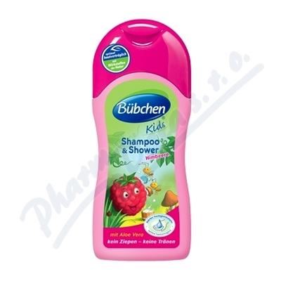 Bübchen šampon a sprch.gel pro děti malina 50ml