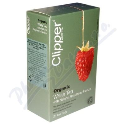Čaj Clipper organic white tea + Raspberry 25x2g