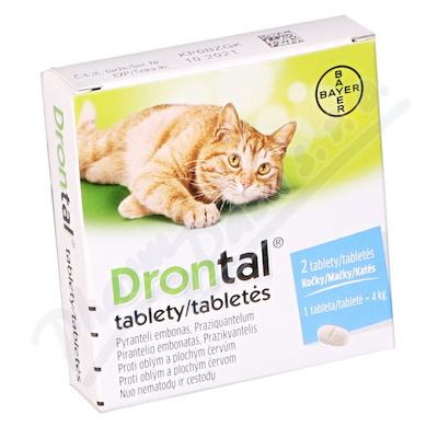 Drontal pro kočky a.u.v.tbl.2 - Veterinární přípravky a potřeby pro vaše mazlíčky.