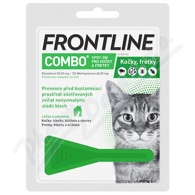 Frontline Combo Spot-on cat a.u.v.sol.1x0.5ml - Veterinární přípravky a potřeby pro vaše mazlíčky.