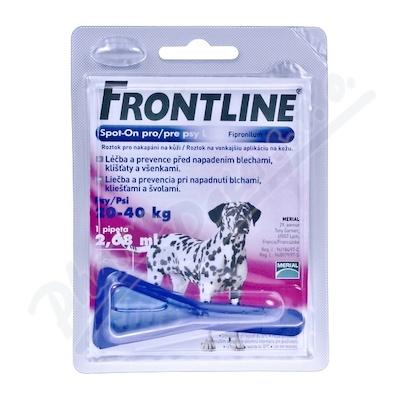 Frontline Spot On Dog L 1x1 pipeta 2.68ml - Veterinární přípravky a potřeby pro vaše mazlíčky.
