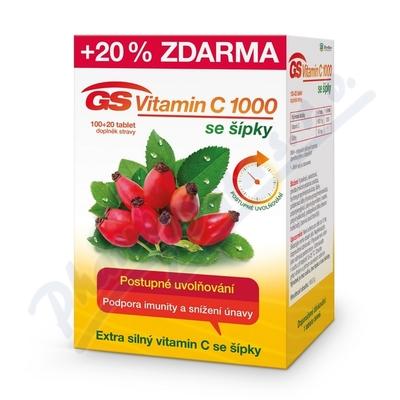 GS Vitamin C1000 + šípky tbl.100+20 2016
