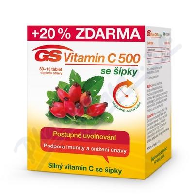 GS Vitamin C500 + šípky tbl.50+10 2016
