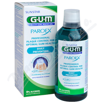 GUM ústní voda PAROEX 300ml 0,12%