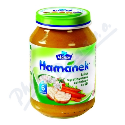Hamánek krůta s gratin.zeleninou a rýží 190g 6M