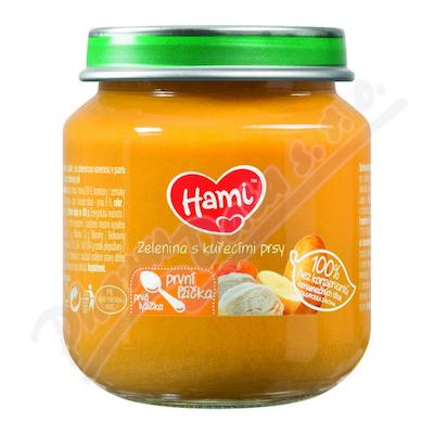 HAMI Příkrm zelenina kuřecí 125g 110887