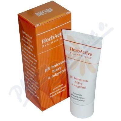 HERBACTIVE-gel-bolest hlavy+migrény 20ml PAVES