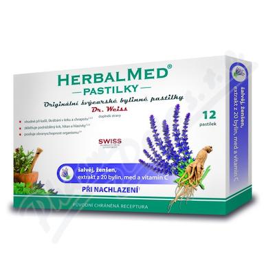 HerbalMed pastilky Dr.Weiss Šalvěj ženš.vit.C 12