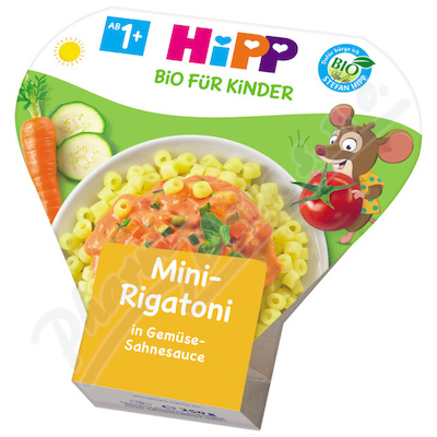 HiPP BIO DĚT.TĚST.Mini-Rigatoni zel.sm.250g CZ8638