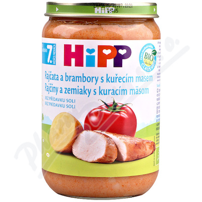HIPP rajčata a bramb.s kuře.220gCZ6510