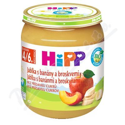 HIPP OVOCE jablka s banány a broskvemi 125g CZ4283