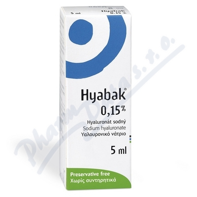 Hyabak 0.15% gtt.oph. 5ml
