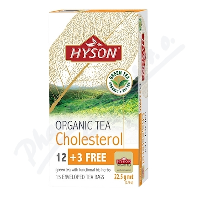 HYSON organický čaj na CHOLESTEROL 15x1.5g