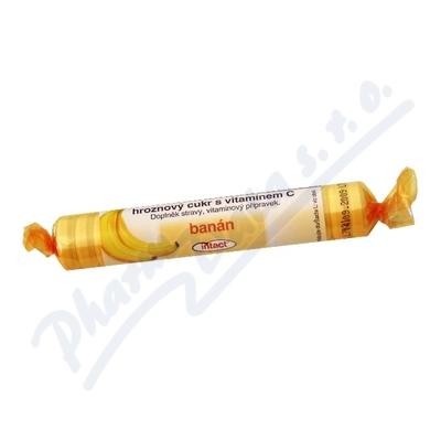 Intact hroznový cukr s vit.C banán 40g (rolička)