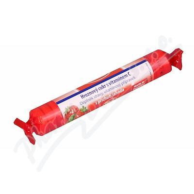 Intact hroznový cukr s vit.C jahoda 40g (rolička)
