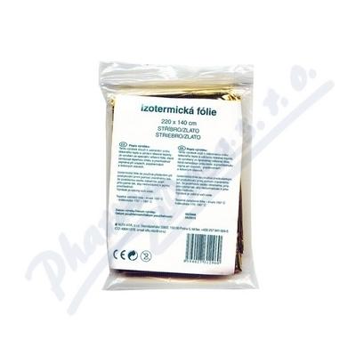 Izotermická folie Fixaplast 220x140 stříb./zlato