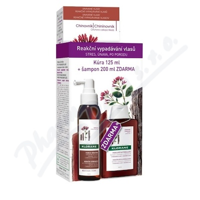 KLORANE Force Kératine 125ml+Šampon chinin 200ml