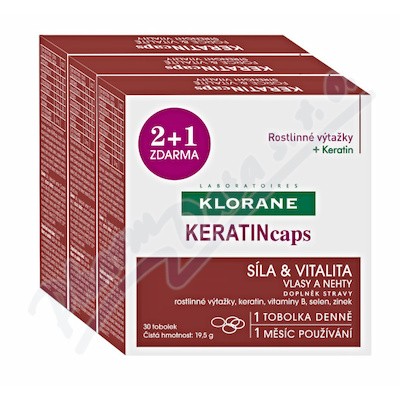 KLORANE Keratincaps Vlasy a nehty cps.90