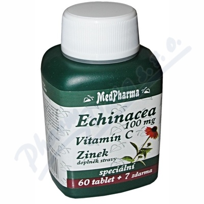 Echinacea 100mg+vit.C+zinek tbl.67 MedPharma