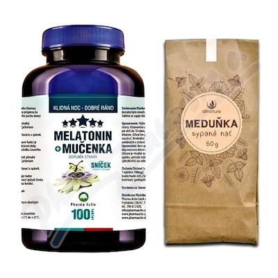 Melatonin Mučenka tbl.100 + Meduňkový čaj 50g