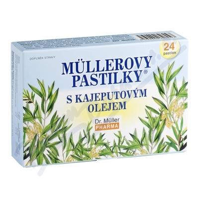 Mllerovy pastilky s kajeputovým olejem 24ks