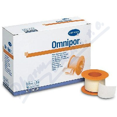 Náplast Omnipor netkaný textil 2.5cmx9.2m/1ks