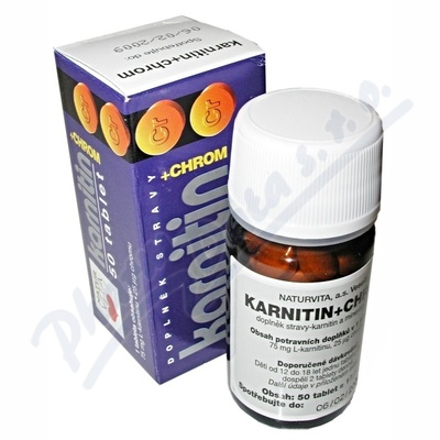 NATURVITA Karnitin+chrom tbl.50
