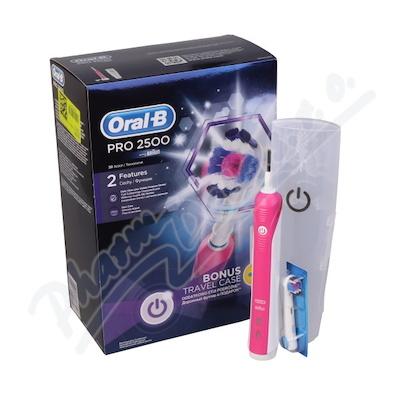 Oral-B El.kart. PRO2500 pink + pouzdro