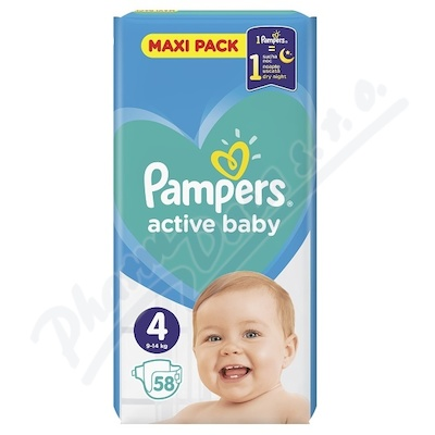 PAMPERS Active Baby Maxi VPP Maxi 7-14kg 58ks
