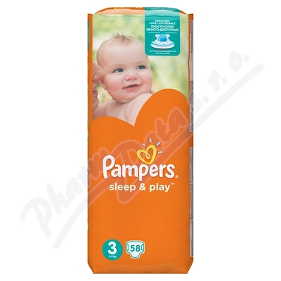 PAMPERS Sleep&Play Midi 58ks