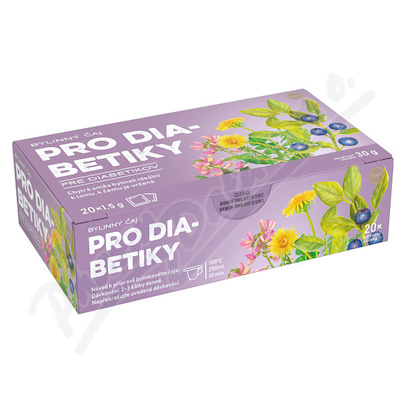 Čaj bylinný pro diabet.20x1.5g n.s.PANDA NATUR