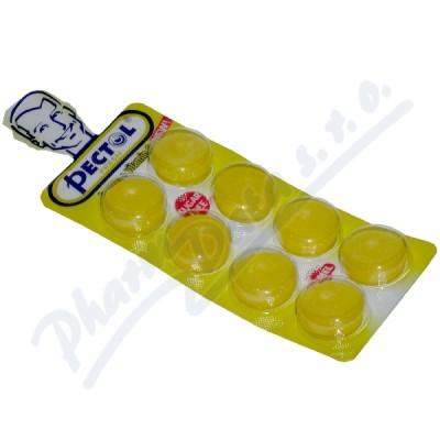Pectol citronový drops bez cukru s vit.C blistr