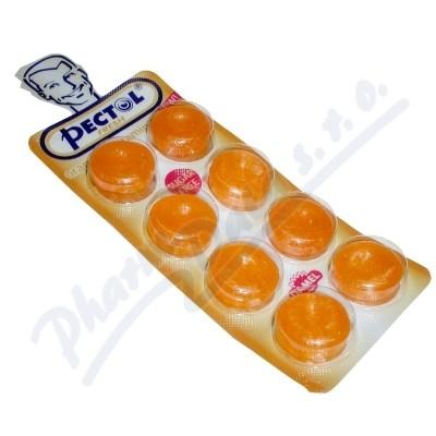 Pectol pomeranč.drops b.cukru s vit.C blistr